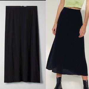 ARITZIA Wilfred Skirt Midi / Maxi Black 2